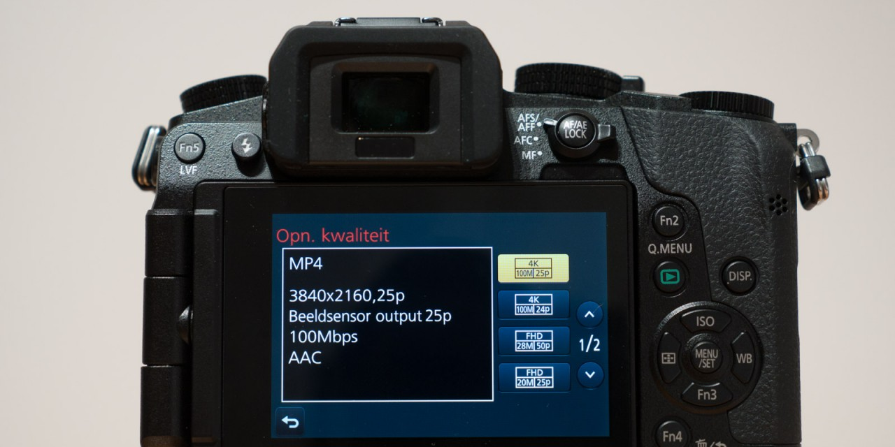 Review: Panasonic G7 software en bediening